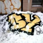 Snowfiti im Winter