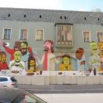 Street Art-Abendmahl