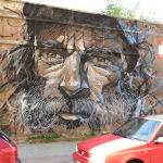 Street Art-Gottvater