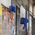 Blaue Wandschafe