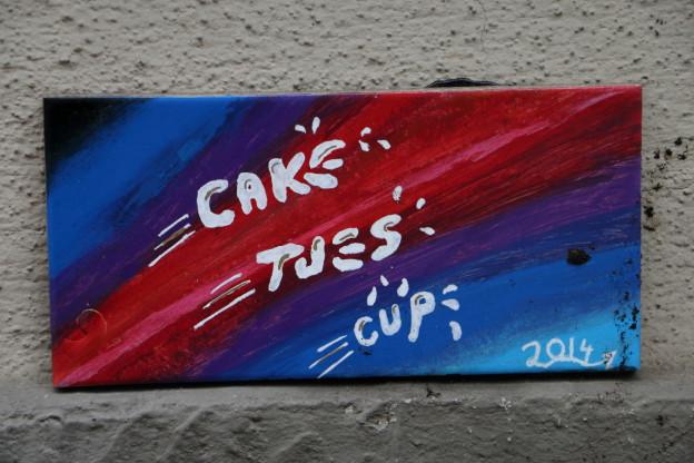 Fliese von cake tues und cup street art in halle saale - Fliesen halle saale ...