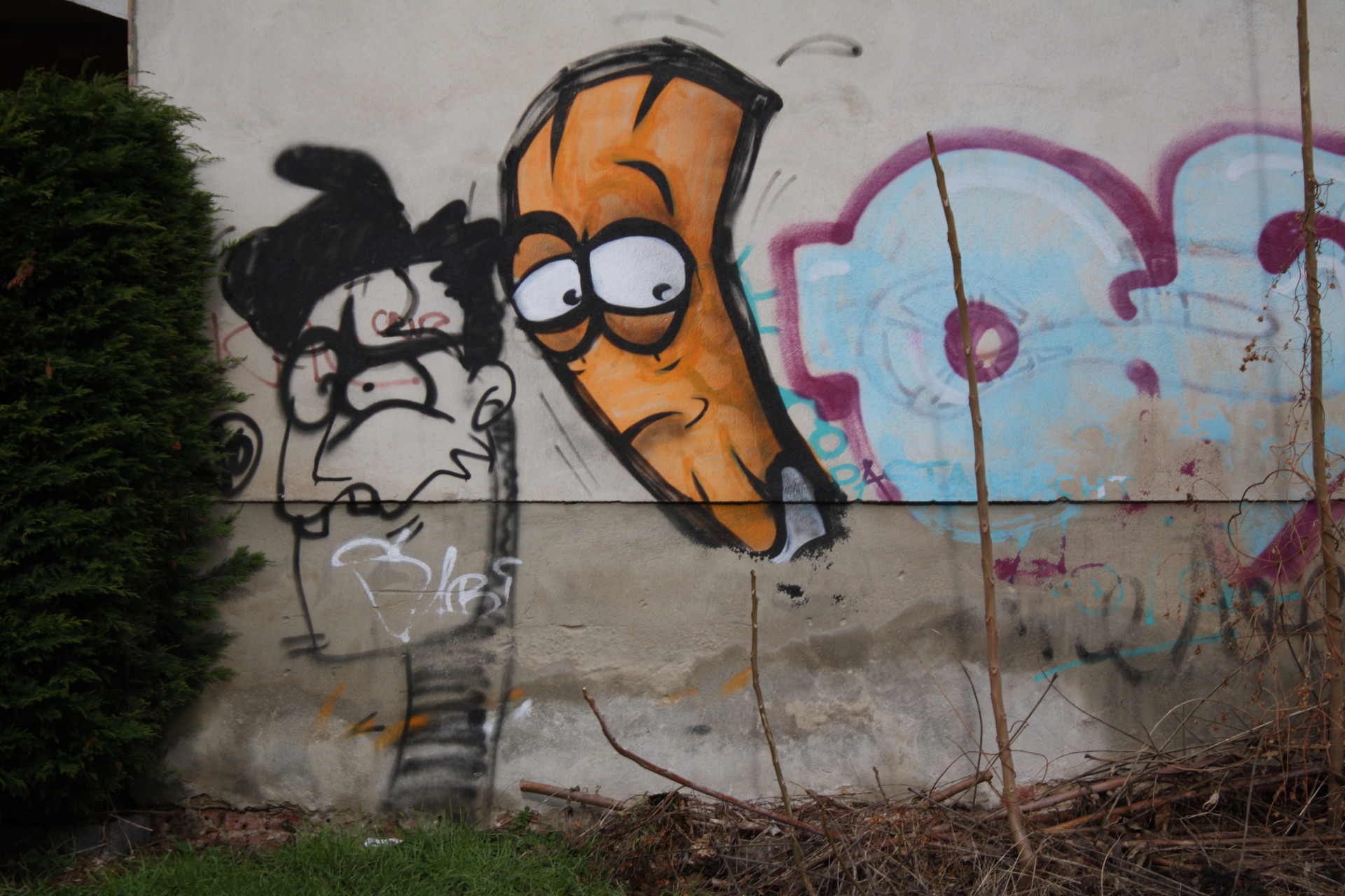 Graffiti, Köpfe, Große Märkerstr 18_MG_5579