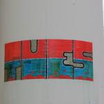 TU ES-Sticker blau/rot
