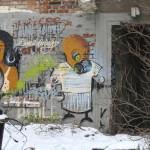 Graffiti bildlich: Seltsames Pärchen
