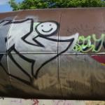 Graffiti bildlich:  Das kleine Gespenst