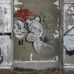 Graffiti bildlich: quakender Frosch