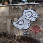 Graffiti bildlich: trauriger Vogel
