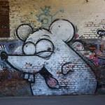Graffiti bildlich: Aufgeregte Maus