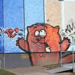 Graffiti bildlich: hungriger (?) Bär
