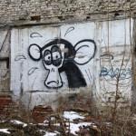 Graffiti bildlich: ein trauriger Affe