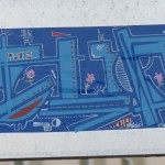 CUP konstruktivistisch und blau