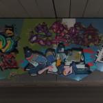 Unter der Brücke: Holzplatz, Westseite