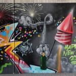 Galerie Europachaussee (1):  Feuerwerk zum Neuen Jahr 2016