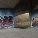Regenzeit unter der Brücke