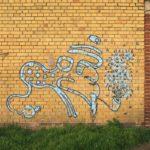 Graffito gezeichnet