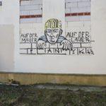 Panik-Graffiti und tags