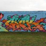 Kaolinstraße Ha-Neu (181): Eine bunte Mauer