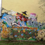 Spielplatz-Graffito